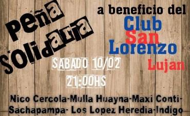 Peña solidaria por el Club San Lorenzo