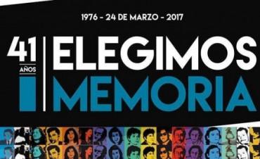 """A 41 años del golpe: """"Elegimos memoria"""""""