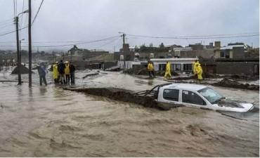 """Comodoro Rivadavia: """"El agua se llevó las casas"""""""
