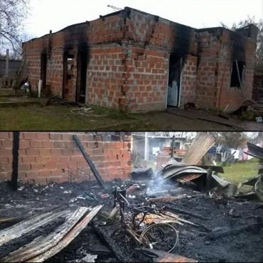 Incendio ocasionó pérdidas totales en una vivienda
