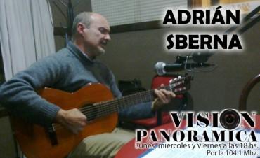 Adrián Sberna en el acústico de Visión Panorámica