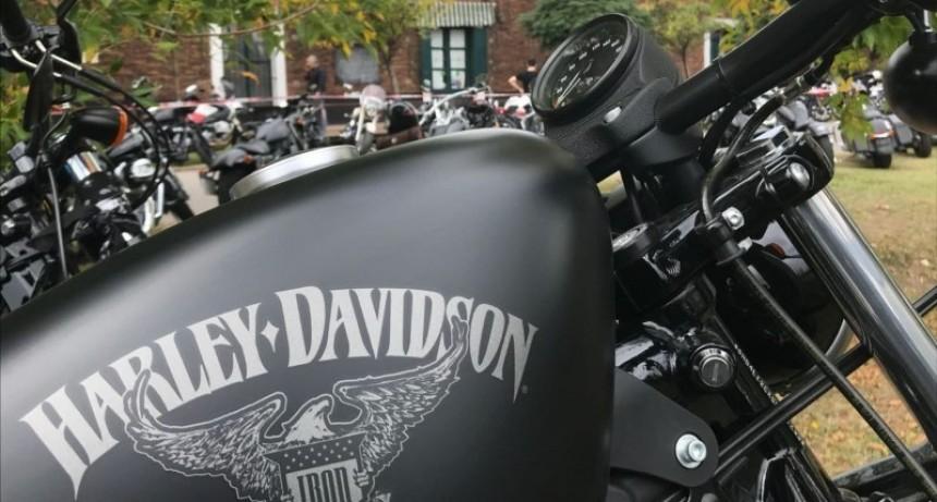 Encuentro de motos Harley-Davidson en Cortínez
