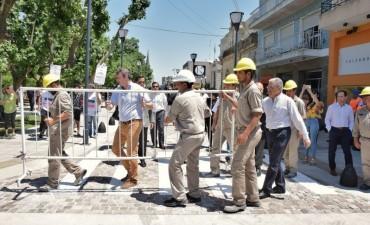 Se inauguró el primer tramo de la renovada calle San Martín