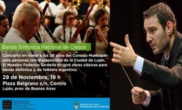 Concierto de La Banda Nacional de Ciegos en Lujan