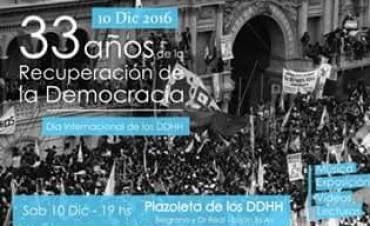 Celebrarán 33 años de Democracia