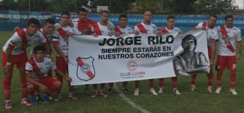 Emotivo homenaje a Jorge Rilo en el partido entre Luján y San Telmo