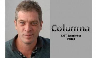 CGT: terminó la tregua