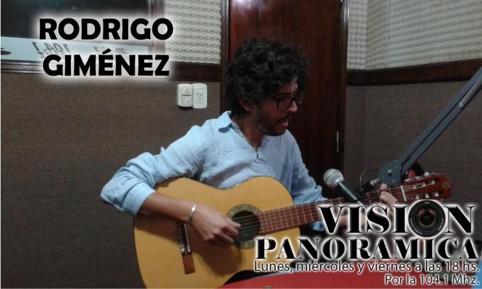 Rodrigo Giménez en el acústico de viernes