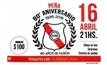 Peña 80° aniversario del Club Lujan