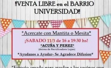 Feria Libre en la Soc. de Fomento del Barrio Universidad
