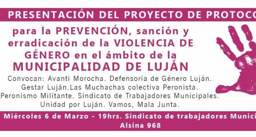 Presentarán un protocolo para erradicar la violencia en la Municipalidad