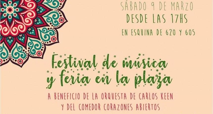 Festival de música en la plaza de Valle Verde