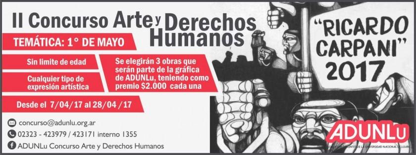 Adunlu extiende los plazos para participar en el II Concurso de Arte y Derechos Humanos