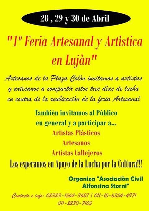 Artesanos de Plaza Colón harán Feria Artística contra la reubicación