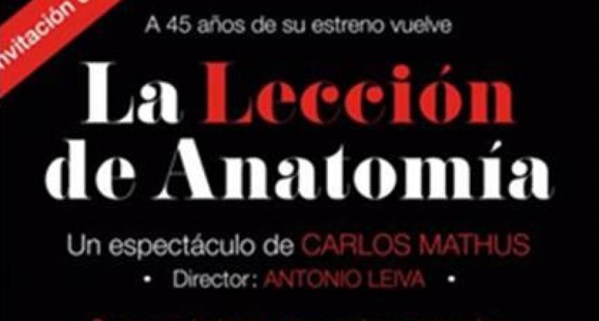 La Lección de Anatomía se presenta en el Teatro municipal
