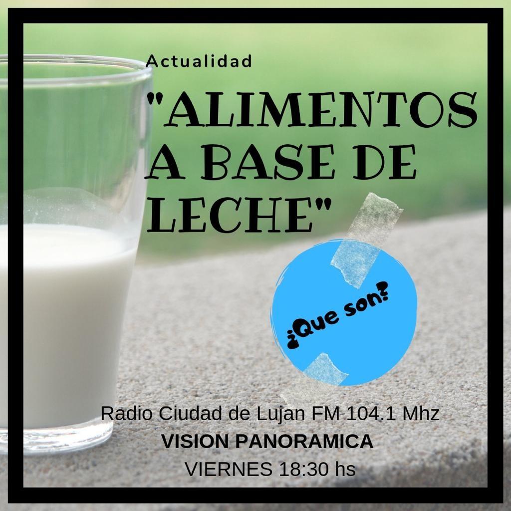 Nutrición: Alimentos a base de leche