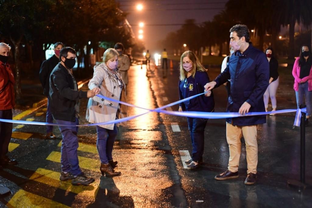 Se inauguraron las obras de pavimentación de la Avenida Flandes