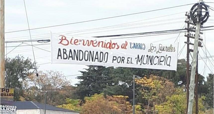 Denuncian abandono del barrio Los Laureles