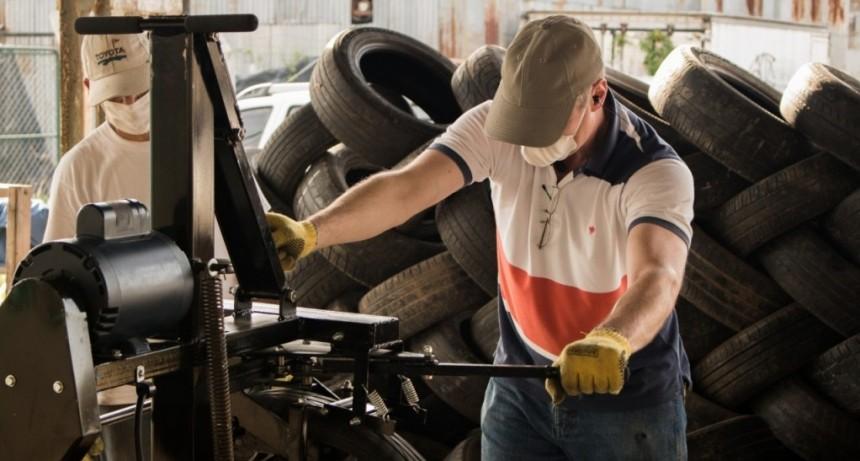 Plan para el tratamiento de los neumáticos descartados en el basural