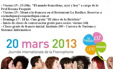 Fin de semana con cine Francés en Luján
