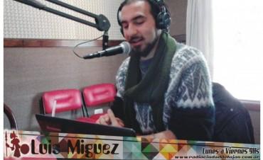 Luís Miguez y una columna musical y futbolera