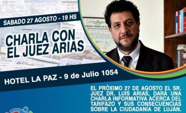 El juez Arias dará una charla en Lujan