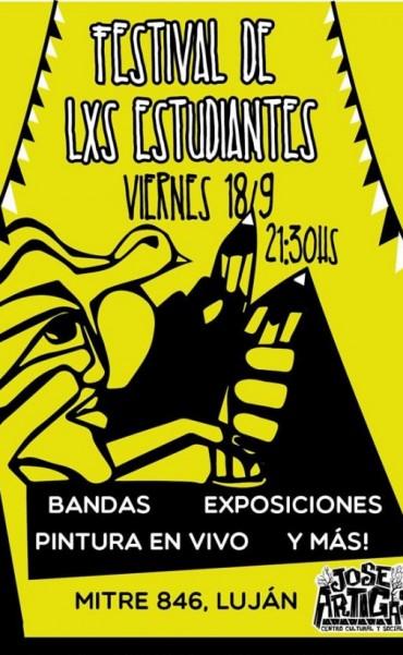 """""""Festival de lxs Estudiantes"""" hoy en el Centro Cultural Artigas"""