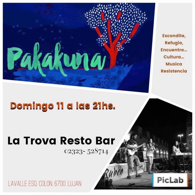 Pakakuna este domingo en La Trova