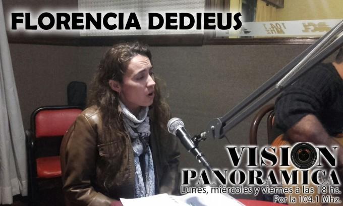 Florencia Dedieus pasó por el acústico de Visión Panorámica