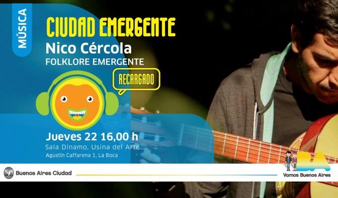 Nico Cercola participará del Festival Emergente