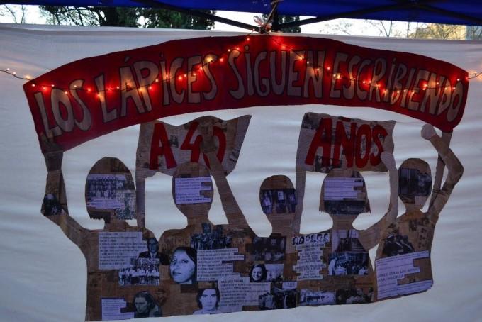 En la plaza colón se recordaron los 40 de la noche de los lápices