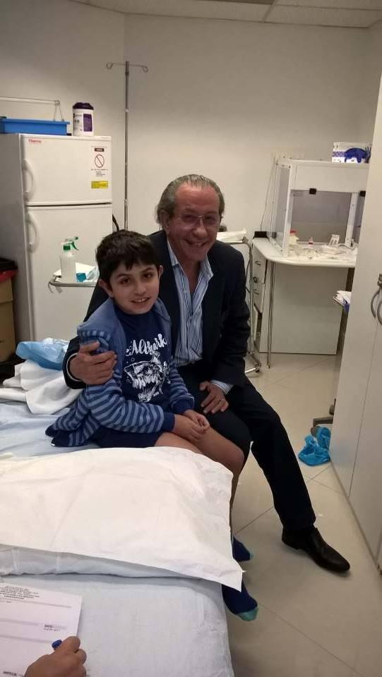 Santiago completó su tratamiento de células madres en Miami