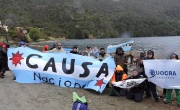 """""""Marcha por la Soberanía"""" llegó a Lago Escondido"""