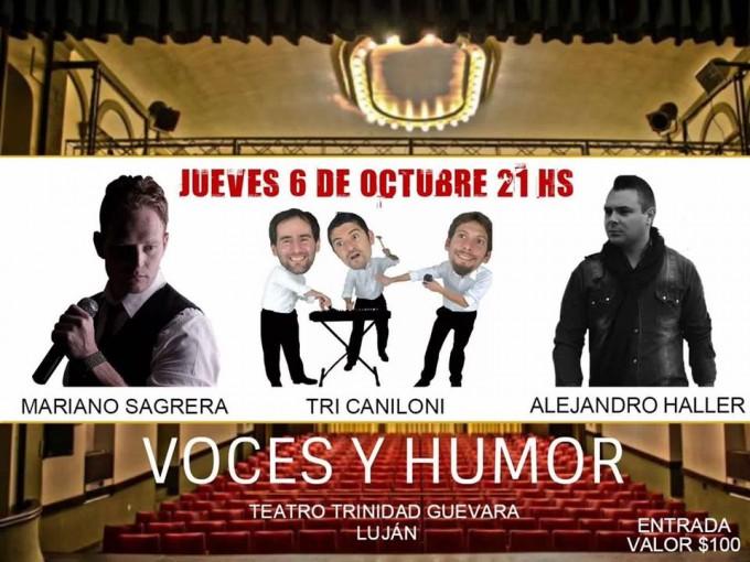Voces y Humor este jueves en el Trinidad Guevara