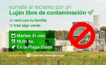 Convocan a movilizar en contra de la Termoeléctrica
