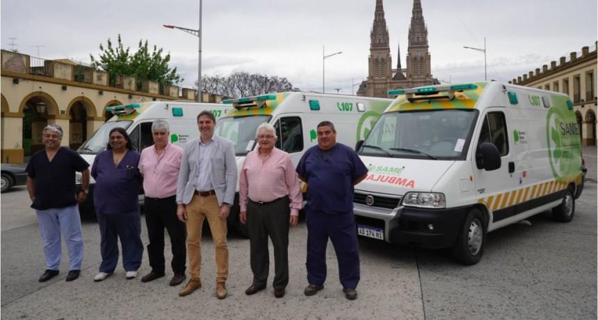 Luján recibió tres ambulancias para implementar el SAME