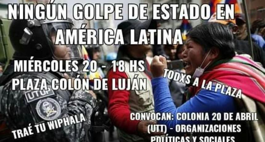 Convocan a Plaza Colón contra los Golpes de Estado