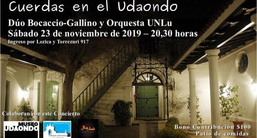 """Invitan a concierto """"Cuerdas en el Udaondo"""""""