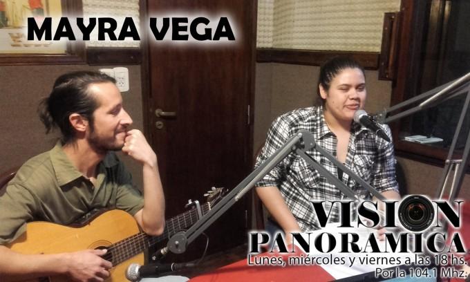 Mayra Vega en el cierre acústico de Visión Panorámica