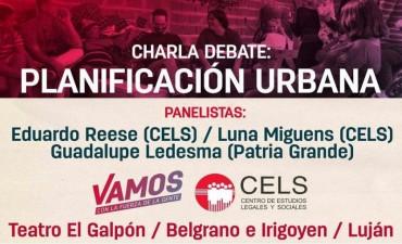 Charla debate sobre planificación urbana